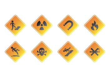 Free Warning Sign Icon Vector - vector gratuit #387227