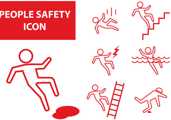 People Safety Icon - vector gratuit #387357
