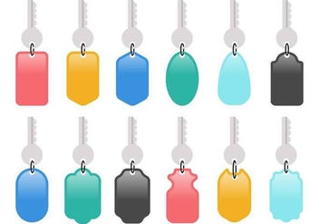 Free Colorful Key Holder Vector - бесплатный vector #387407