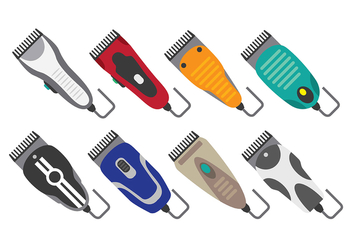 Hair Clipper Icons - vector #387437 gratis