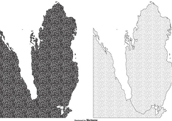 Textured Qatar Map Illustrations - vector gratuit #387447