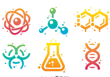 Science Gradient Icons - vector gratuit #387467