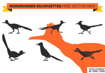 Roadrunner Silhouettes Free Vector Pack - Kostenloses vector #387537