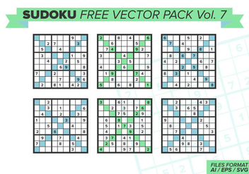 Sudoku Free Vector Pack Vol. 7 - Free vector #387567