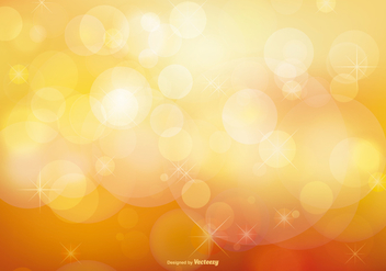 Golden Stardust Bokeh and Stars Background - vector #387617 gratis