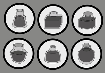 Simple Black Ink Pot Vector - Free vector #387707