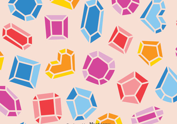 Colorful Gemstone Pattern - vector gratuit #387717
