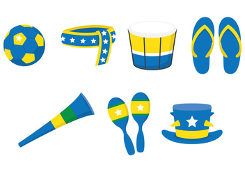 Vuvuzela Fan Set - vector #387727 gratis