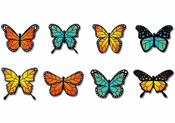 Free Colorfull Butterfly Vector - vector gratuit #387767