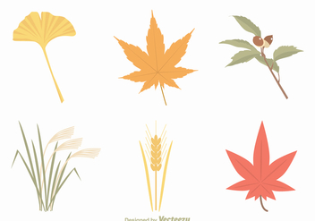 Free Autumn Leaves Vector Set - Kostenloses vector #387797
