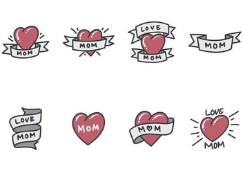 Mom Tattoo Vectors - Free vector #387817