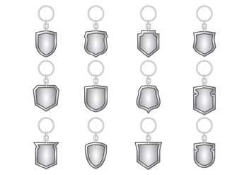 Silver Key Holder Vector - vector #387837 gratis