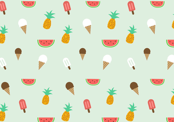 Free Summer Pattern Vector - бесплатный vector #387897