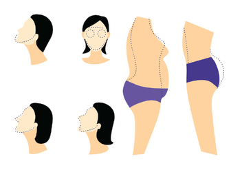 Plastic Surgery Vector Icons - Free vector #387907