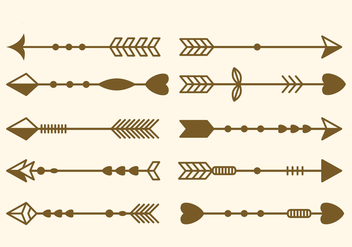Free Set of Arrow Clip Art Vector Illustration - Free vector #387967