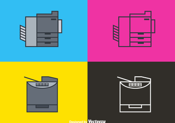 Free Line Photocopier Vector Icons - бесплатный vector #388017