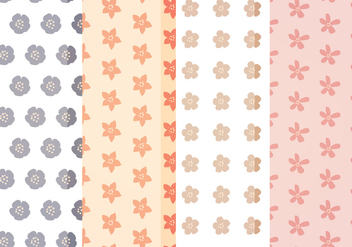Vector Cute Floral Patterns - vector gratuit #388027