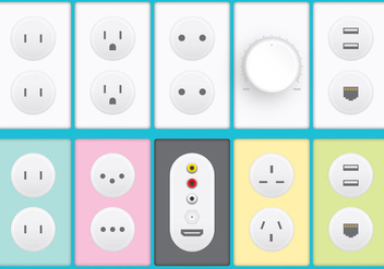 Plugs And Sockets - Free vector #388087