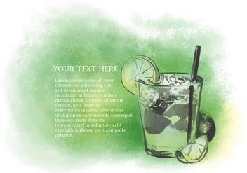 Watercolor Caipirinha Vector - vector #388097 gratis