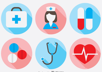 Doctor Icons Set - vector gratuit #388117