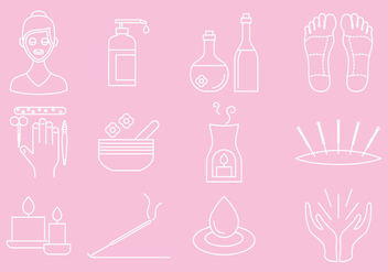 Health And Beauty Icons - vector gratuit #388217