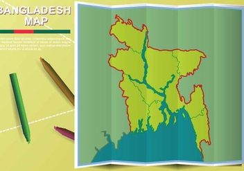 Free Bangladesh Map Illustration - бесплатный vector #388297