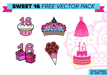 Sweet 16 Free Vector Pack - бесплатный vector #388317