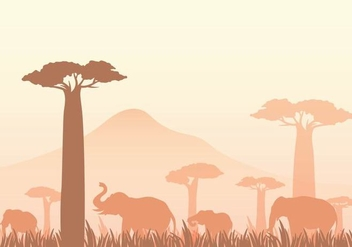 Free Baobab Vector Illustration - vector gratuit #388327