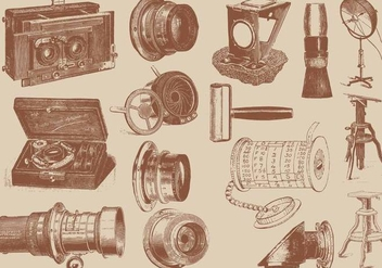 Antique Camera Accesories - Kostenloses vector #388387