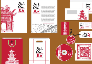 Tai Chi Profile Template - vector #388397 gratis