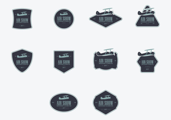 Biplane Logo Icon Set - бесплатный vector #388467