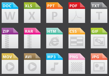 Colorful File Icons - vector #388497 gratis