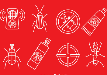 Pest Control Line Icons Vector - Free vector #388727