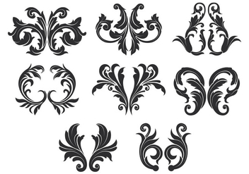 Acanthus Vector Icons - бесплатный vector #388817