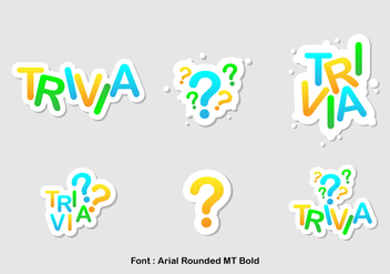 Trivia Icon Vector Set - vector #388837 gratis