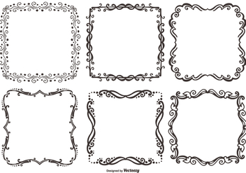 Decorative Vector Frames - vector #388857 gratis