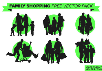 Family Shopping Free Vector Pack Vol. 2 - Kostenloses vector #388867