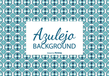 Circular Azulejo Tile Background - vector gratuit #388907