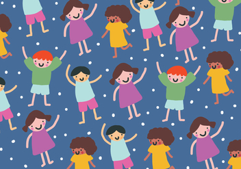 Children's Pattern - vector gratuit #388937