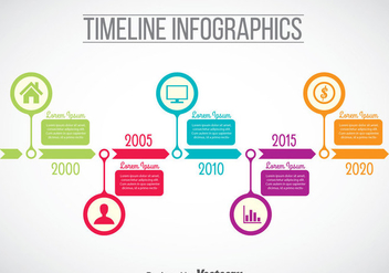Timeline Infographic Template Vector - vector gratuit #388997