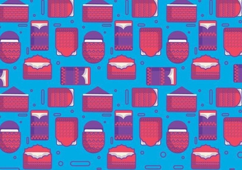 Red Packet Pattern Vector - Kostenloses vector #389007