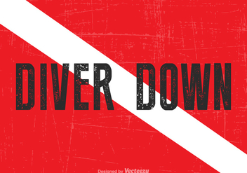 Free Vector Diver Down Flag - vector gratuit #389047