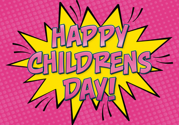 Comic Style Childrens Day Illustration - vector #389087 gratis