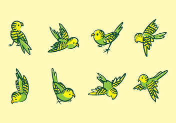 Budgie Cartoon Vector - vector gratuit #389157