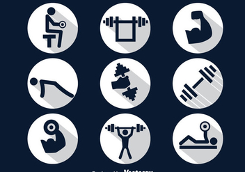 Squat Circle Icons Vector - Free vector #389187