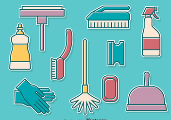 Home Cleanning Tools Collection Set - бесплатный vector #389207