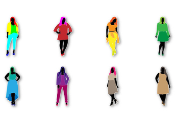 Free Fat Women Fashion Vector - vector gratuit #389297