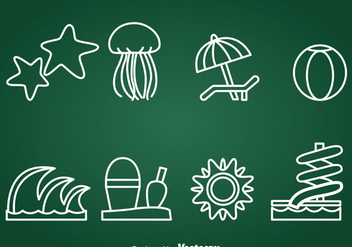 Water Recreation Element Icons Vector - Free vector #389547