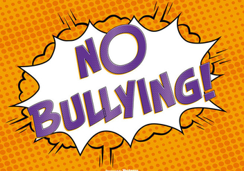 Comic Style No Bullying Illustration - vector gratuit #389587