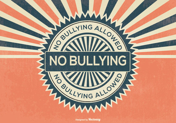 Retro Style No Bullying Illustration - Free vector #389607